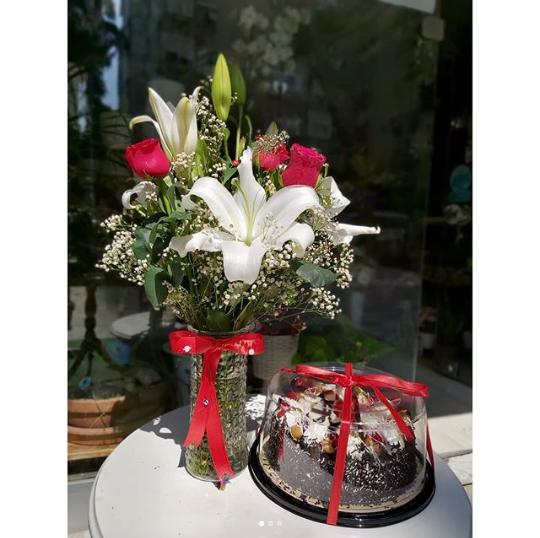 Happy Birthday Flowers Cake Send Turkey
